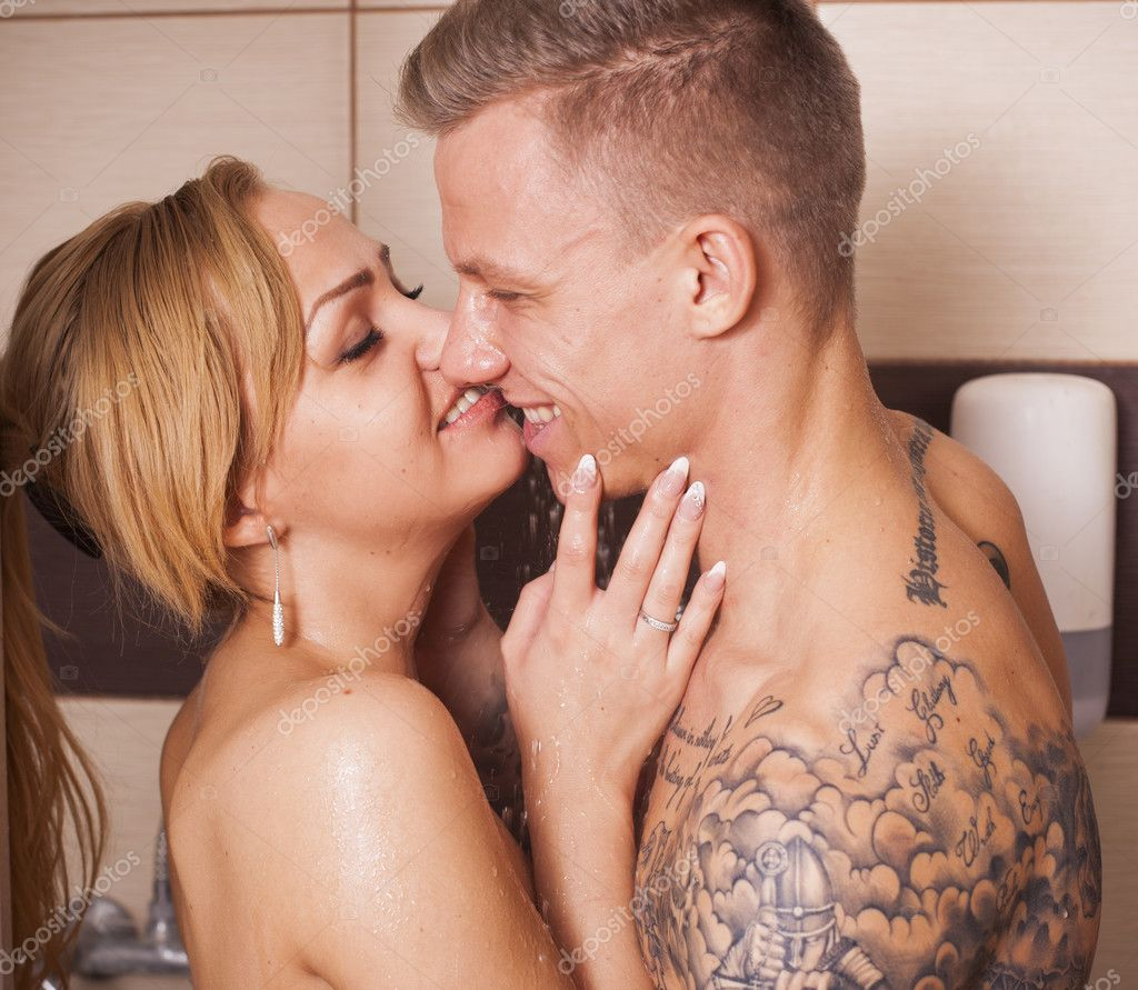 hot couple naked in the shower