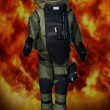 Pyrotechnic mining suit blast — Stock Photo #18246115