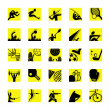 Royalty-Free Stock Vector Image: Sport icon set yellow