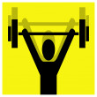 Stock Vector: Weightlifting pictogram