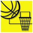 Basketball pictogram — Vektorgrafik