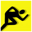 Stok Vektör: Sprint events pictogram