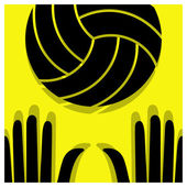 Volleyball pictogram — Stock Vector