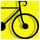 Bicycling pictogram — Stock Vector