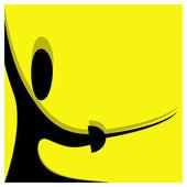 Fencing pictogram — Stock Vector