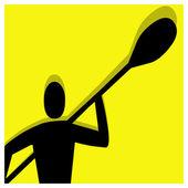 Kayak pictogram — Stock Vector