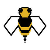 Bee logo — Vettoriale Stock