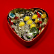 Heart shaped box — Stock Photo