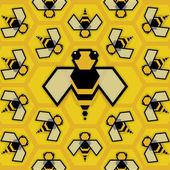 Bee Queen — Stockvektor