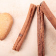 Royalty-Free Stock Photo: Cookie in the form of heart cinnamon