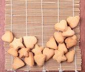 Cookie in de vorm van harten en sterren — Stockfoto