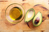 Avocado oil, avocado — Stock Photo