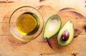 Avocado oil, avocado — Stock Photo