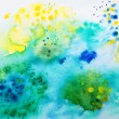 Abstract hand painted blue watercolor background. — Stock Photo