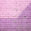Purple brick wall — 图库照片