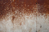 Rusty background with spray of dirt — Stock Photo