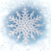 Vintern bakgrund snöflinga på riktiga blå himmel bakgrund — Stockfoto