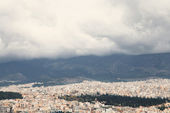 Stormy sky over Athens — Stock Photo