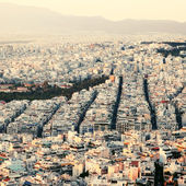 Sunset in Athens. — Stock Photo
