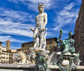 Florence Fountain of Neptune — Stock Photo