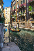 Gondola on a canal in Venice — Стоковое фото