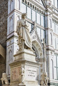 Florence statue of Dante Alighieri — Stock Photo