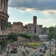 Rome near the Colosseum in the afternoon - Stock Photo