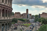 Rome near the Colosseum in the afternoon — Stock Photo