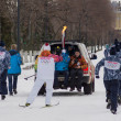 Stock Photo: SAMARA, RUSSI- DECEMBER 25: Olympic torch in Samaron Decemb
