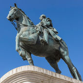 Monument to King Carlos III of Spain to Puerto del Sol in Madrid — Stock Photo