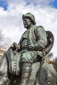 Sancho Panza from monument to Cervantes and heroes of his books  — Stock Photo