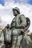 Sancho panza van monument cervantes en helden van zijn boeken — Stockfoto