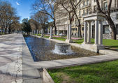 Madrid paseo de recoletos — Stock Photo