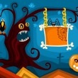 Royalty-Free Stock Vector Image: Hallowen card set