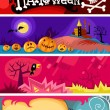 Hallowen card set — Stock Vector