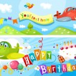 Birthday card — Stock Vector #12361515