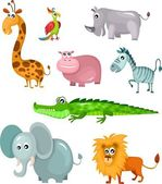 African animal set — Stock Vector