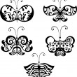 Butterfly set — Image vectorielle