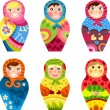 Matryoshka set — Stock Vector