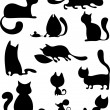 Stock Vector: Cat set