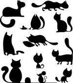 Cat set — Stock Vector