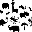 Royalty-Free Stock Vector Image: African animal set