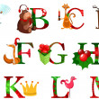 Christmas alphabet — Stockvektor