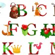 Christmas alphabet — Stockvectorbeeld