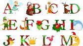 Alfabeto de navidad — Vector de stock