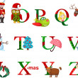 Christmas alphabet — Stockvektor #18186093