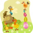图库矢量图片: Easter illustration