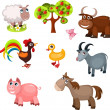 Farm animals — Stockvectorbeeld