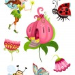 Fairy set — Stock Vector