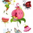 Stock Vector: Fairy set